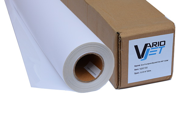 VarioJet Eco Frontprint Backlit Film WP 125M
